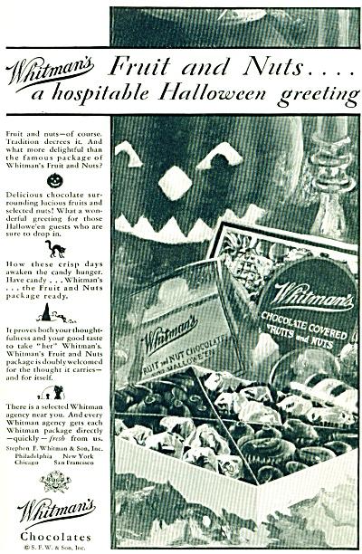 1928 Whitman's HALLOWEEN chocolates ad - 1928 (Image1)