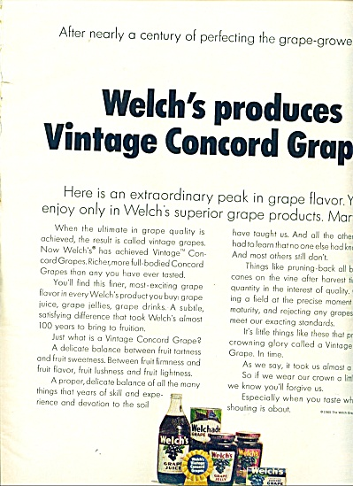 Welch's grape products ad   1965 (Image1)