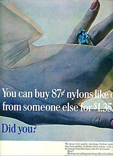 1965 Grants family stores AD HANDS HOSE (Image1)