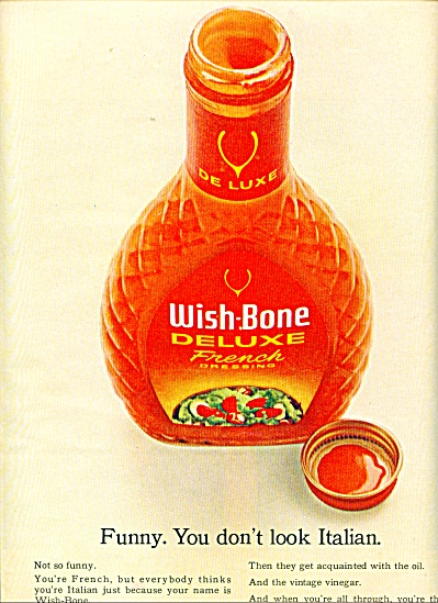 Wish Bone deluxe french dresssing ad - 1965 (Image1)