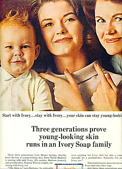 1965 IVORY SOAP AD David Barbara Maloney (Image1)