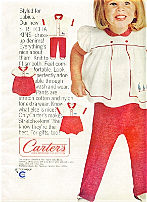 1965 Carter's AD Cutest SMILING Girl in KNITS (Image1)
