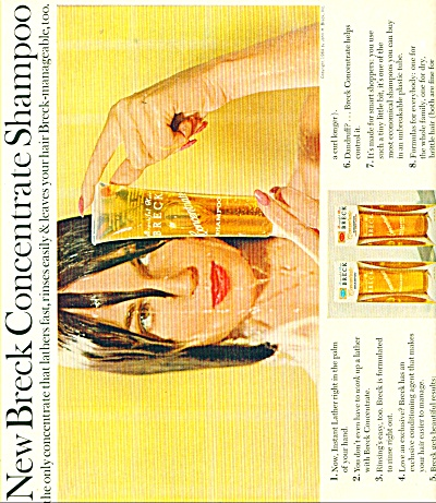 New Breck Concentrate shampoo ad - 1965 (Image1)