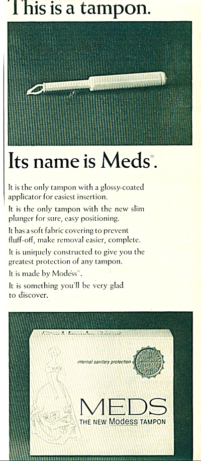 Meds the new modess tampon ad - 1965 (Image1)