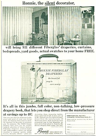 1965 Ronnie Drapery AD Fiberglas +++ (Image1)