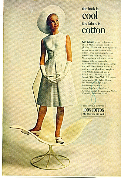 1965 Cotton Gay Gibson Dress AD (Image1)