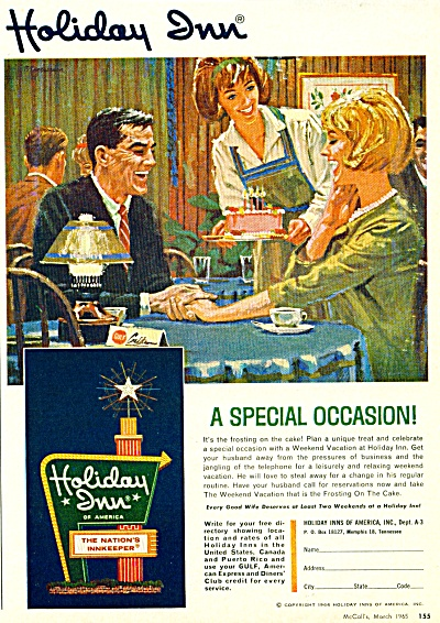 1965 HOLIDAY INN AD - ARTWORK Couple AD (Image1)