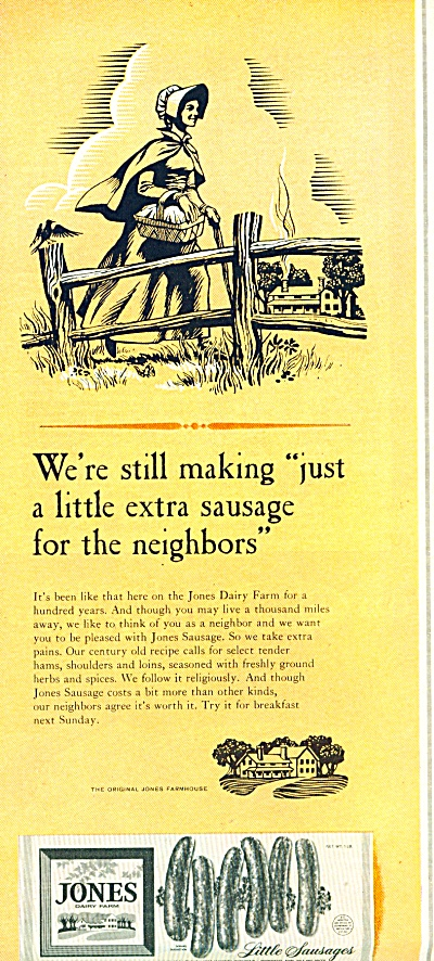 Jones Sausage ad   1965 (Image1)