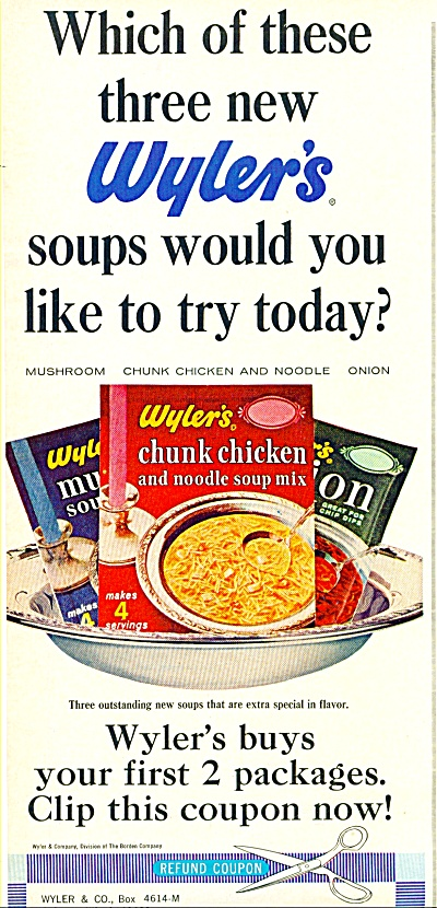 Wyler's soups ad -  1965 (Image1)