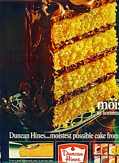 Duncan Hines cake mix ad -  1965 (Image1)