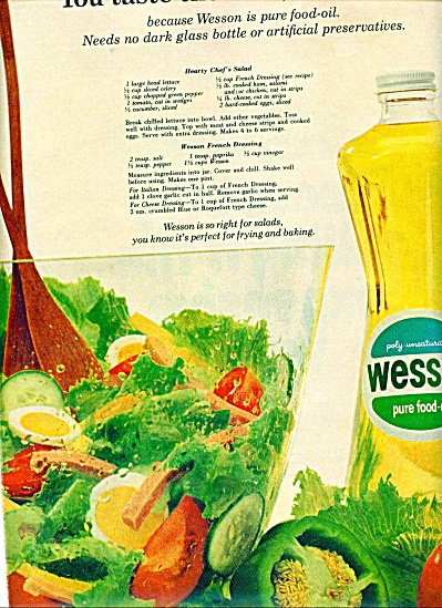 Wesson pure food oil ad - 1965 (Image1)