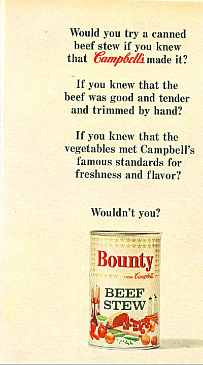 Bounty beef stew ad -  1965 (Image1)