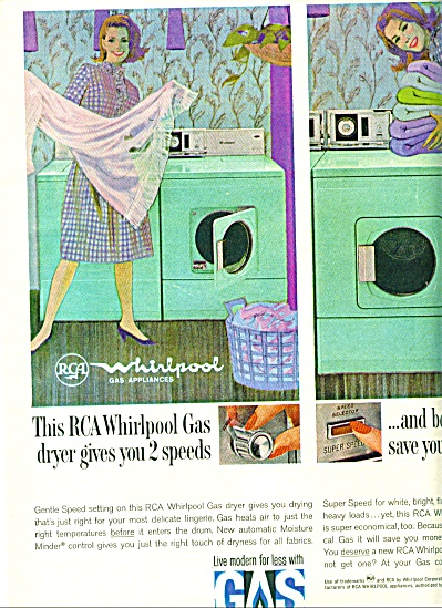 1965 American GAS RCA WHIRLPOOL AQUA DRYER AD (Image1)