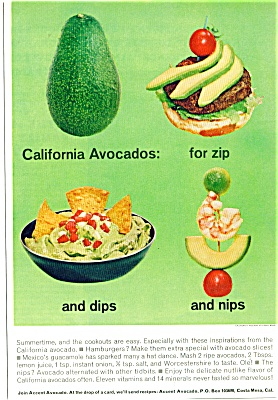 1965 CALIFORNIA AVOCADO ACCENT AD (Image1)