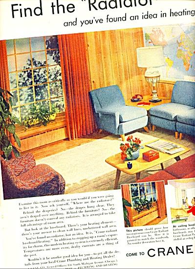 1952 CRANE Plumbing - Heating Radiator AD VTG (Image1)