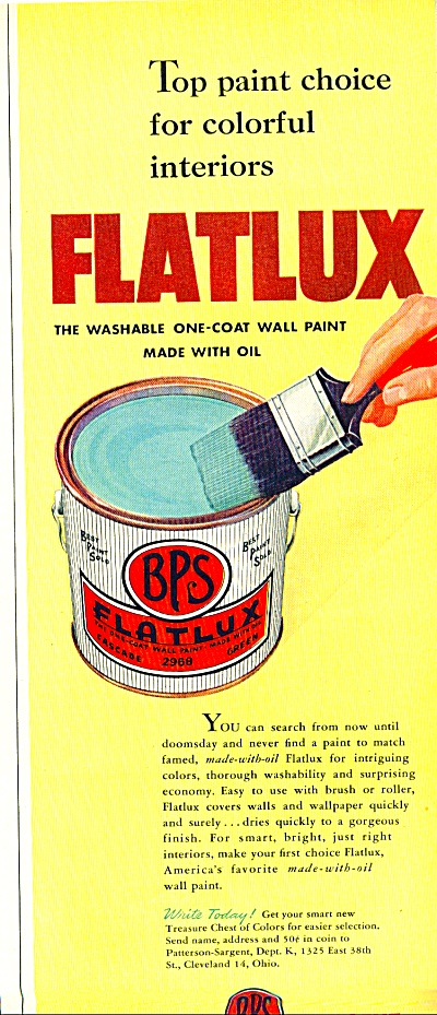 Flatlux paint co.ad    - 1952 (Image1)