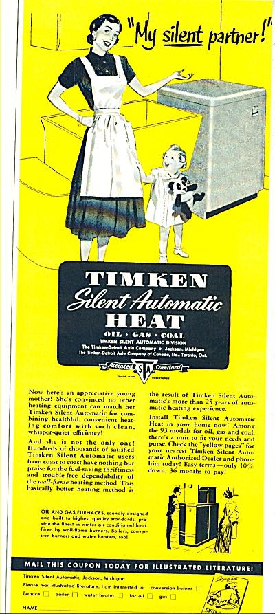 Timken silent automatic heat ad - 1952 (Image1)