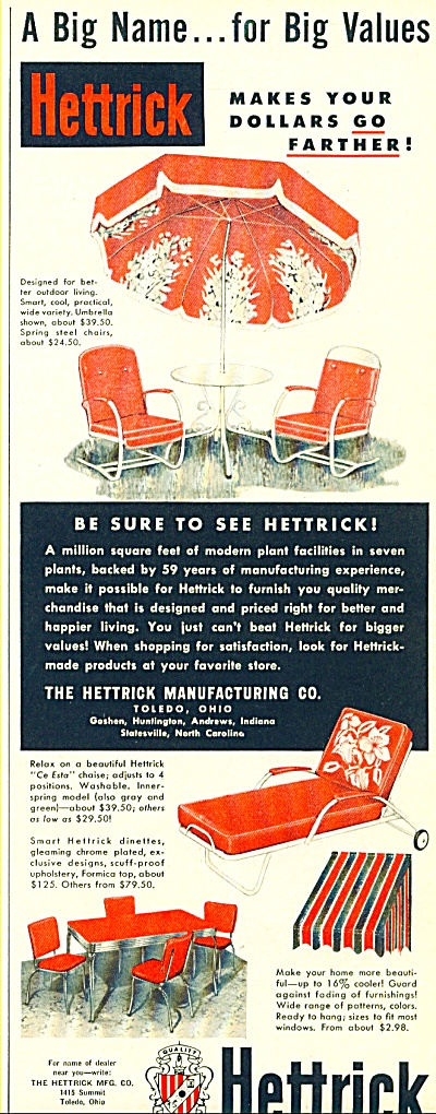Hettrick Mfg. co.  ad - 1952 (Image1)