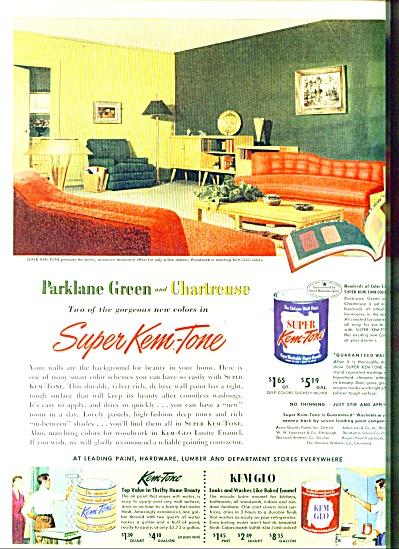 Super Kem Tone paint  ad -  1952 (Image1)