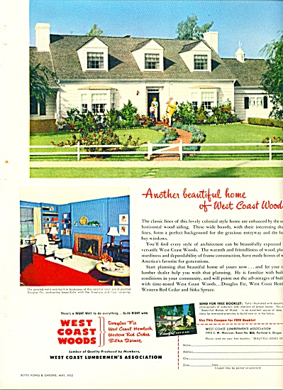 1952 West Coast Lumberman Woods AD Colonial Home (Image1)