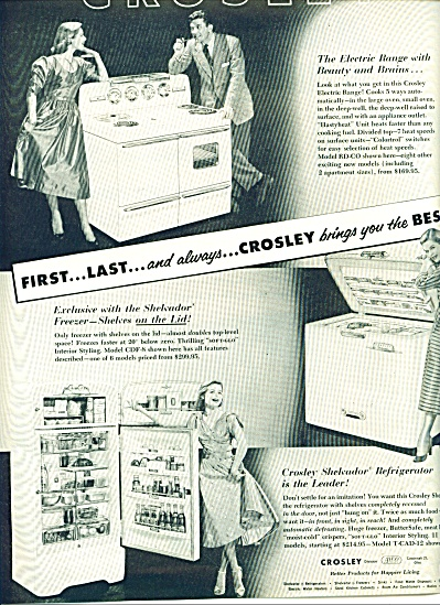 Crosley appliances ad -  1952 (Image1)