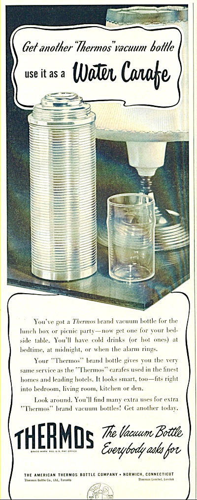 Thermos Vacuum Bottle Ad - 1952