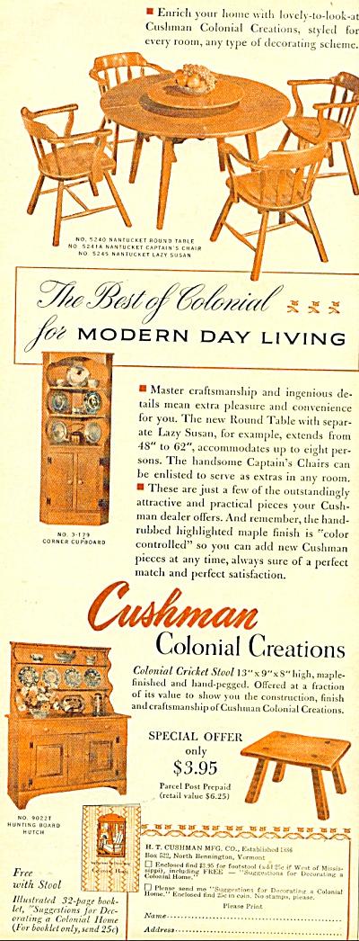 Cushman colonial creations ad - 1952 (Image1)