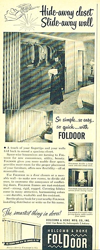 Foldoor  ad - 1952 (Image1)