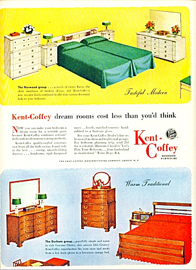 Kent-Coffey bedroom furniture co.   1952 (Image1)
