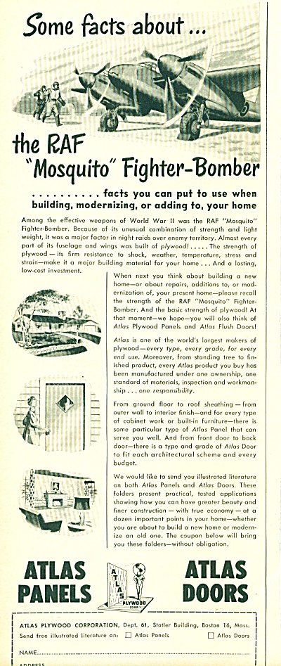 Atlas panels and door ad -  1952 (Image1)