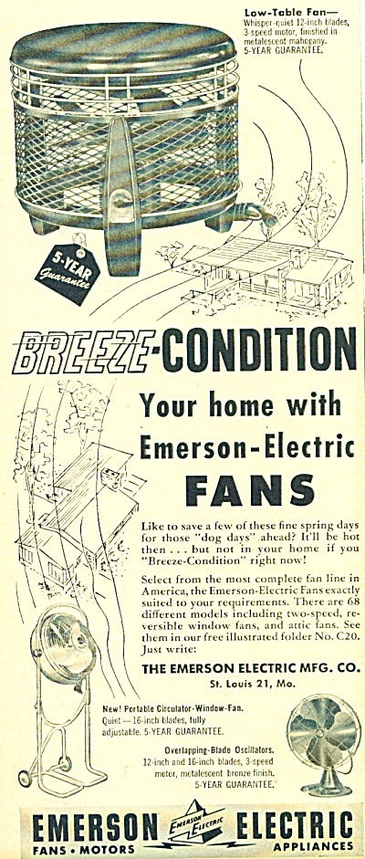 Emerson Electric appliances  ad - 1952 (Image1)