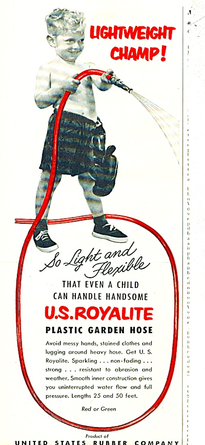 U.S. Royalite garden hose  ad -  1952 (Image1)