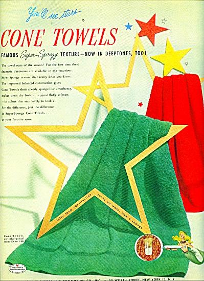 Cone TOWEL ad -  1952 (Image1)