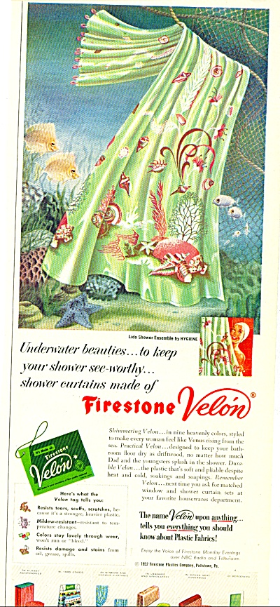 1952 Firestone VELON UNDERWATER BEAUTY Decor #3 (Image1)
