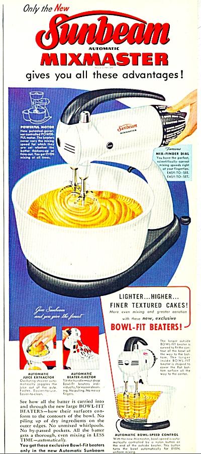 Sunbeam mixmaster ad - 1952 MIXER (Image1)