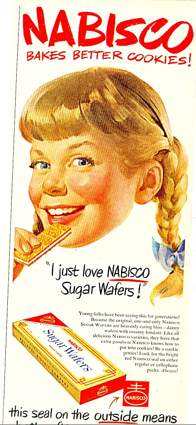 Nabisco sugar wafers ad - 1952 (Image1)