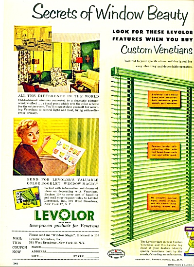 1952 Levolor Venetian AD GREAT DECOR IDEAS (Image1)