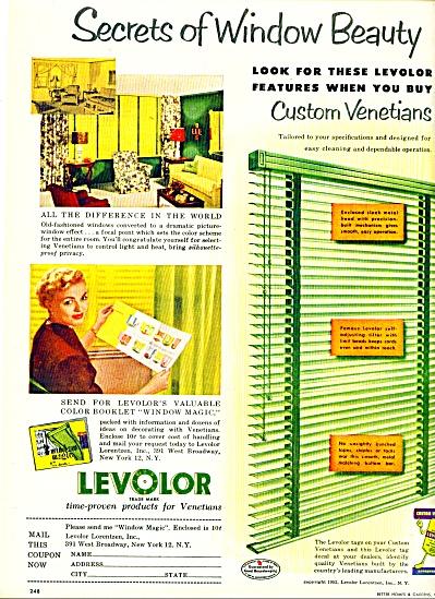 1952 Levolor Venetian AD Mid Century Modern Ideas (Image1)