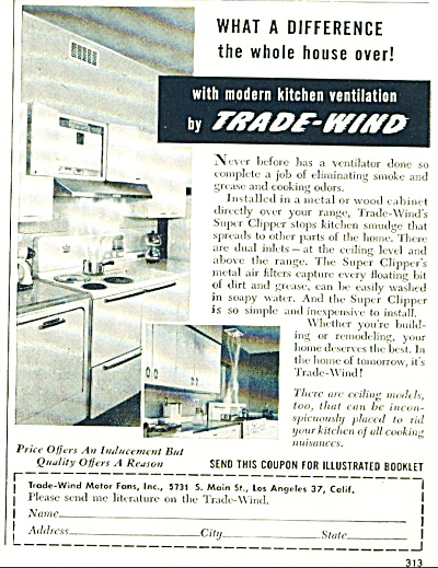 Trade wind ventilation ad -  1952 (Image1)