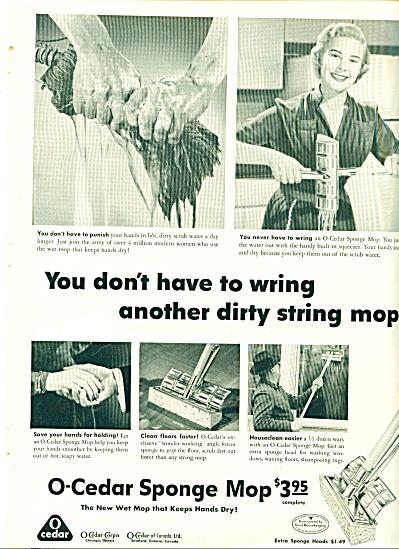 O-Cedar sponge mop ad - 1952 (Image1)