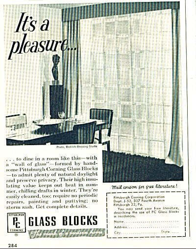 Glass blocks  ad - 1952 (Image1)