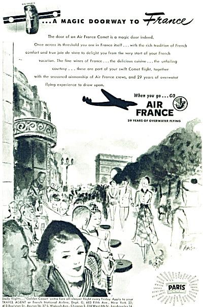 1948 AIR FRANCE Magic Doorway Airline AD (Image1)