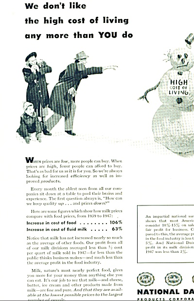 1948 National Dairy AD Family Snowman Pic (Image1)
