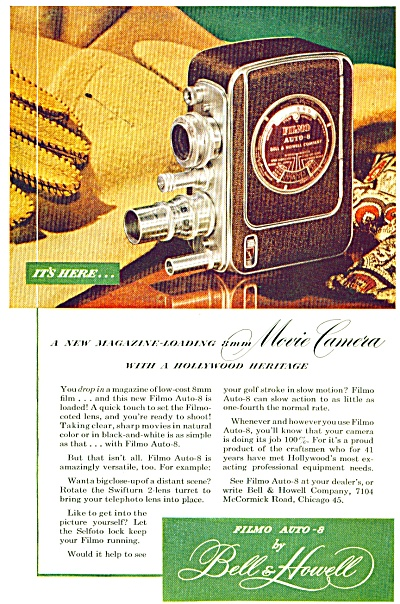 1948 Bell & Howell FILMO Auto 8 Camera AD (Image1)