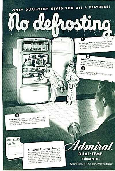 1948 ADMIRAL Refrigerator TWIN GIRLS - DAD Ni (Image1)