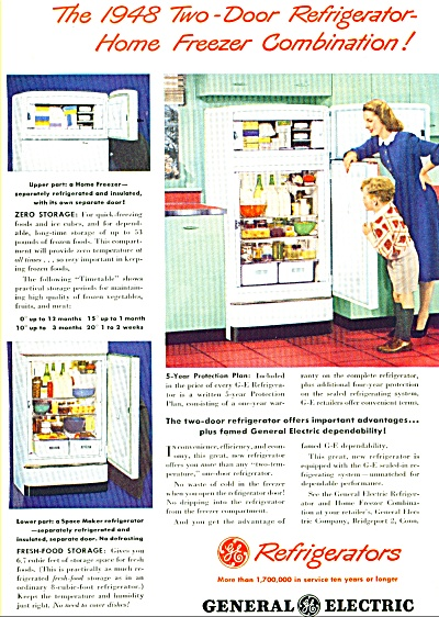 General Electric refrigerators ad -  1948 (Image1)