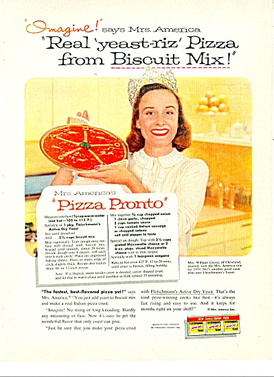 1958 FLEISCHMANN Yeast AD Mrs. William GIESSE (Image1)