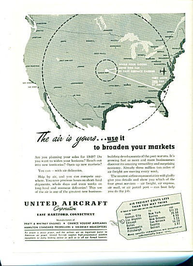 United Aircraft corporation ad  -1949 (Image1)