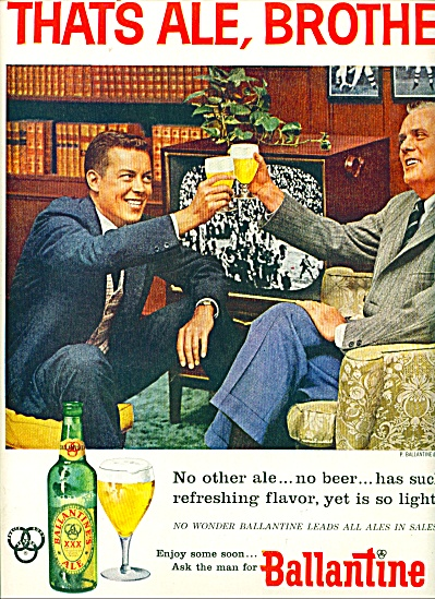 1956 BALLANTINE ALE Beer AD - BROTHER NO OTHE (Image1)