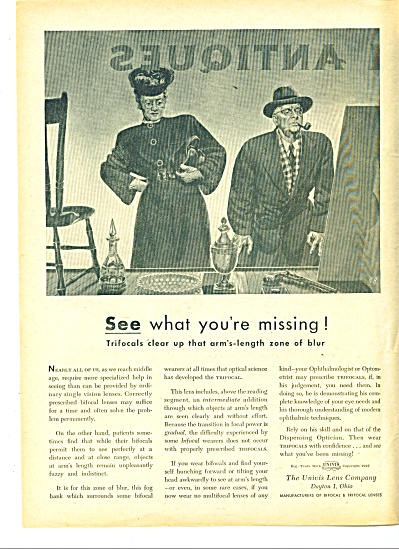 The Univis Lens Company ad - 1947 (Image1)